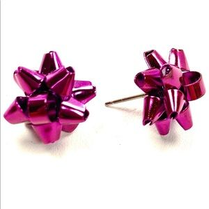 ♠️Kate Spade♠️ Hot Pink Bourgeois Bow Earrings
